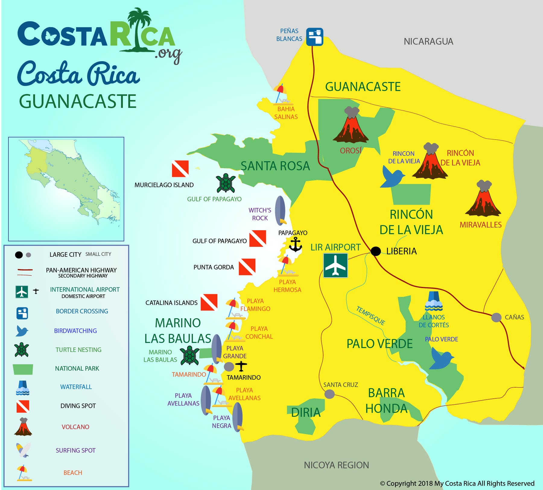 London Points Of Interest Map.Costa Rica Maps Every Map You Need For Your Trip To Costa Rica