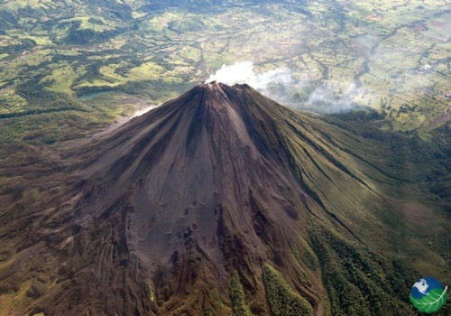 Arenal Volcano Aerial View
